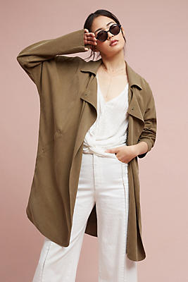 Slide View: 1: Khaki Cocoon Trench