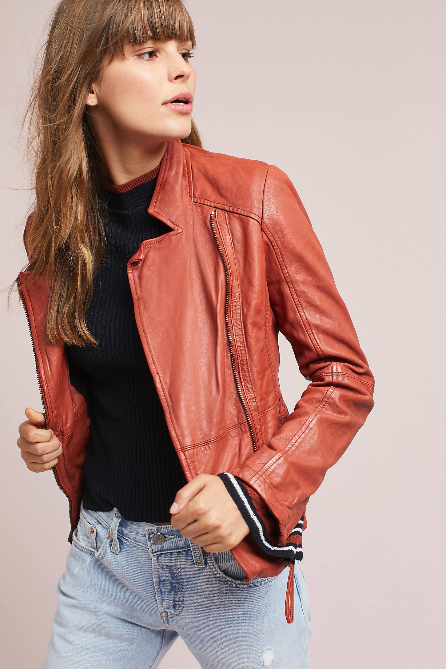Rita Leather Moto Jacket