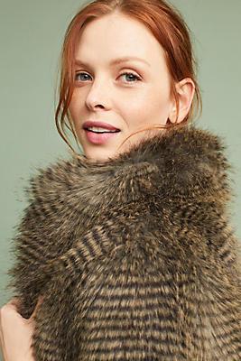 Slide View: 1: Reilly Faux Fur Coat