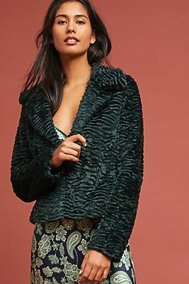 Slide View: 1: Regal Faux Fur Coat
