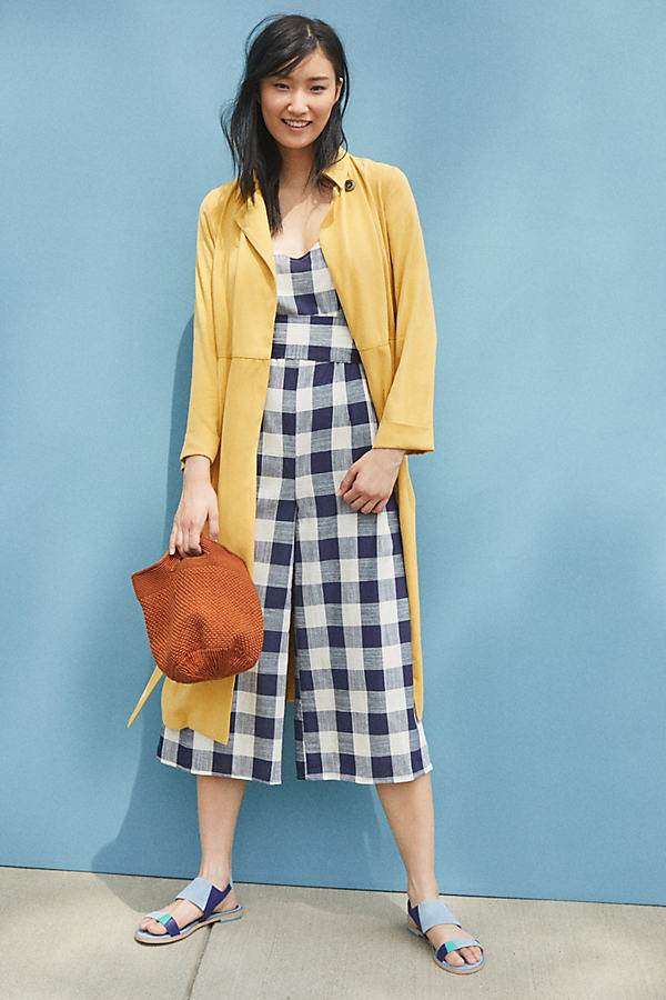 Sunny Day Trench Coat - Yellow, Size Uk 16