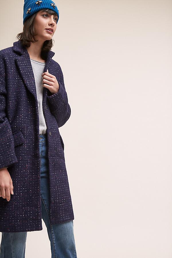 Manteau Tailored Coat - Blue, Size Uk 8