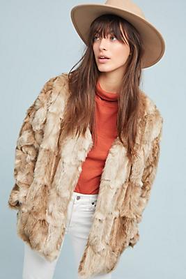 Slide View: 1: Bold Ambition Faux Fur Jacket