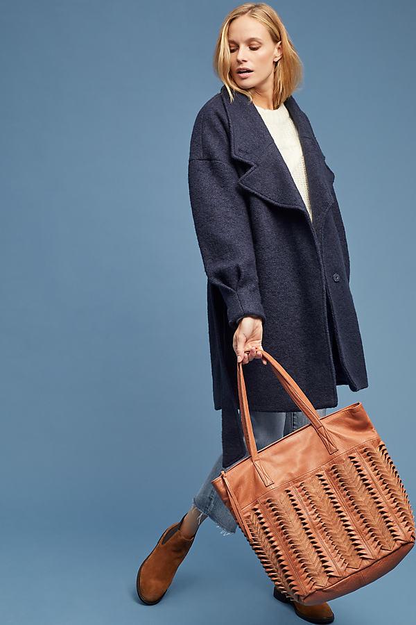 Selected Femme Paja Coat - Blue, Size Uk 12