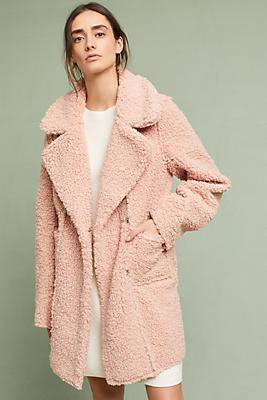 Slide View: 1: Blushed Sherpa Coat