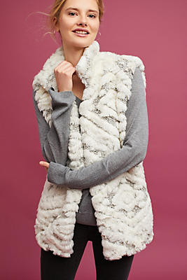 Slide View: 1: Basia Faux Fur Vest