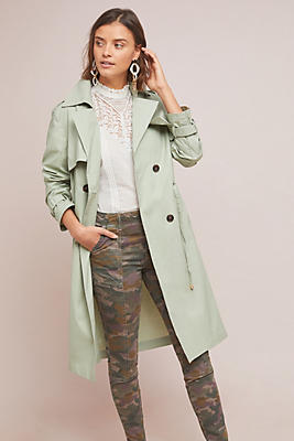 Slide View: 1: Vert Trench Coat