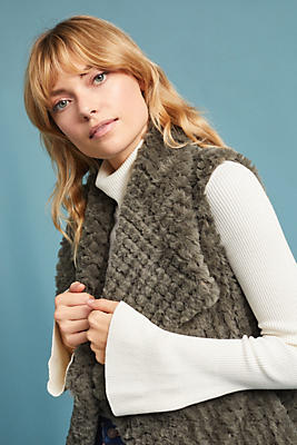 Slide View: 1: Stella Faux Fur Vest