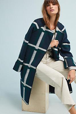 Slide View: 1: Margot Plaid Coat
