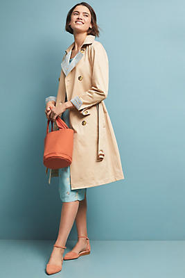Slide View: 1: Gingham-Lined Trench Coat