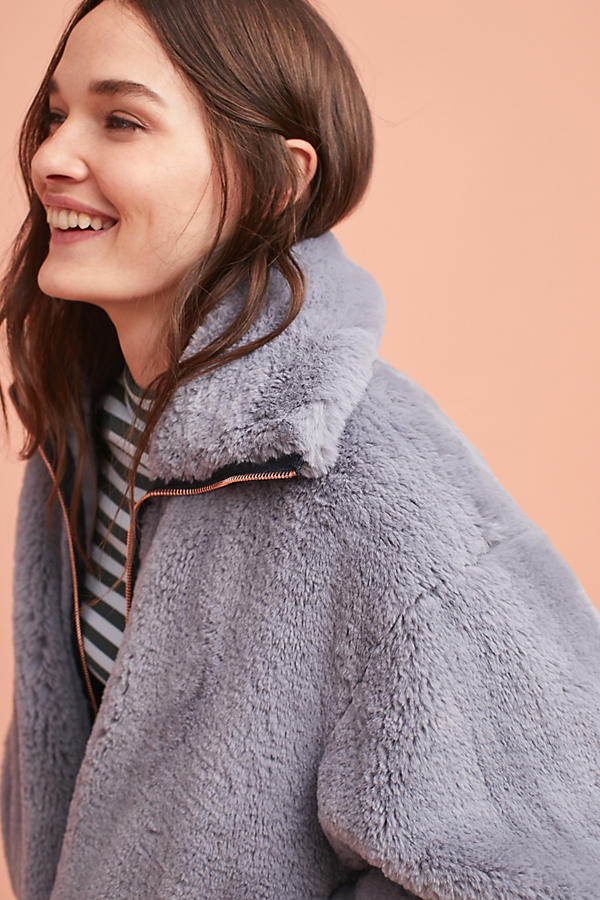 Bristol Faux Fur Jacket | Anthropologie