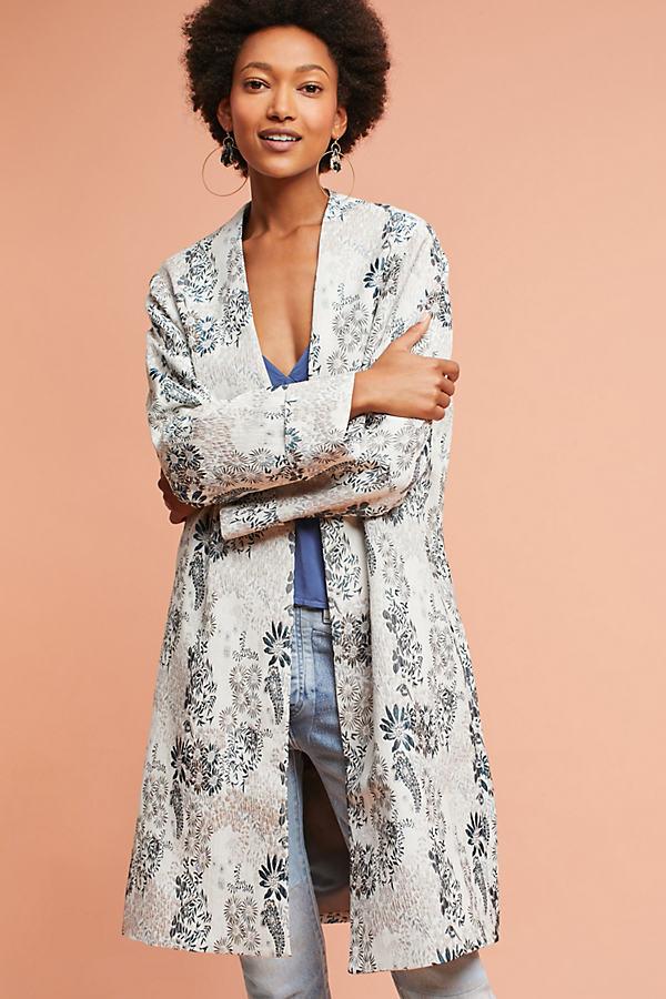 Ellie Floral Jacquard Coat - Assorted, Size 16
