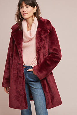Slide View: 1: Tayberry Faux Fur Coat
