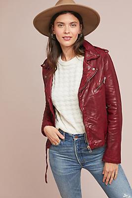 Slide View: 1: Lamarque Kyoshi Leather Jacket