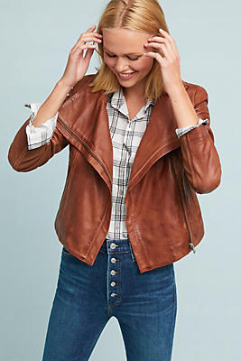 Slide View: 1: Lamarque Talia Leather Jacket