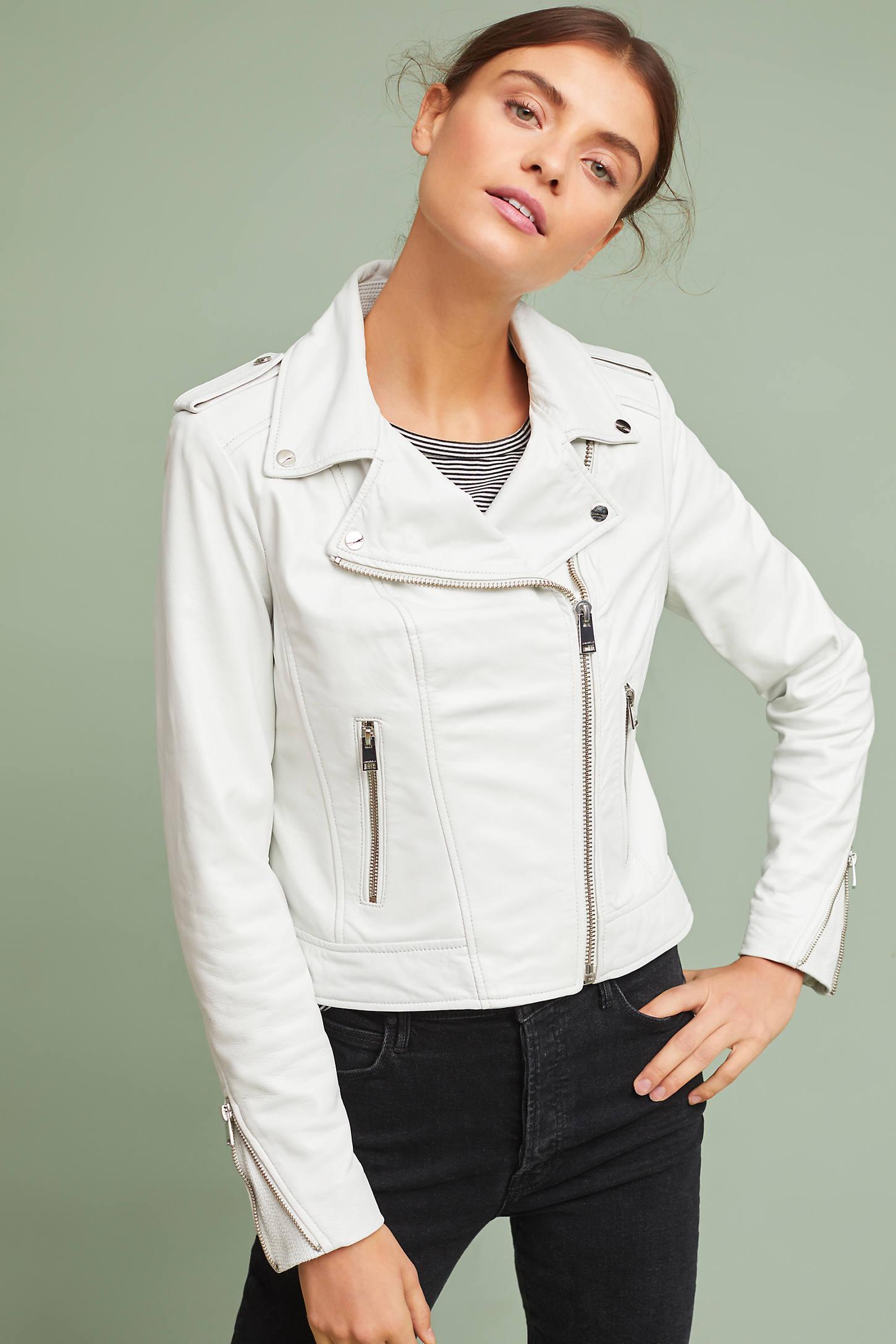 Talia Leather Moto Jacket