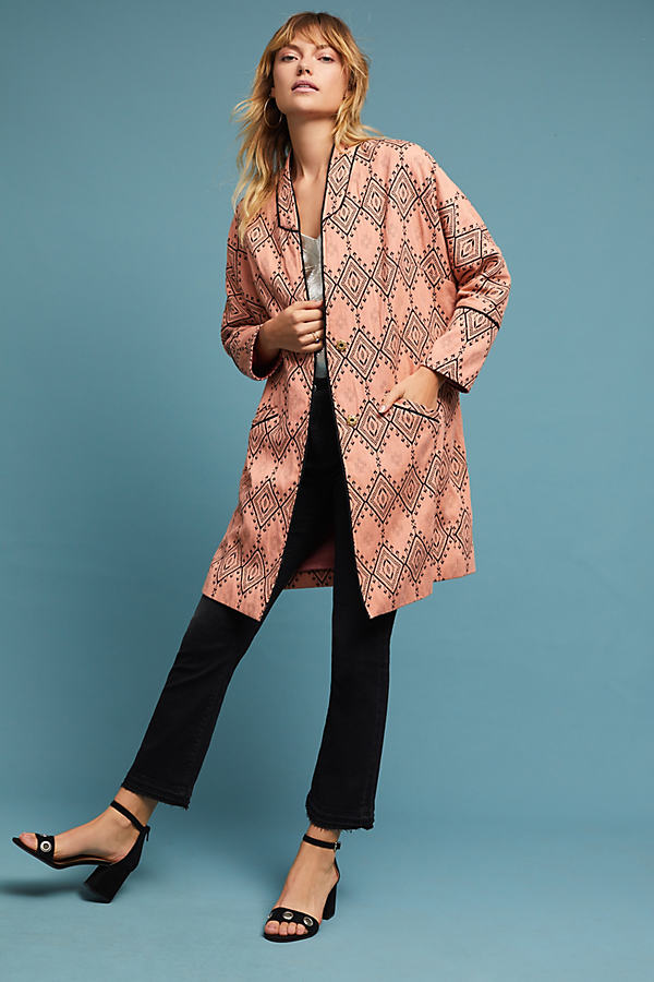 Jessie Tapestry Coat, Orange - Orange, Size M