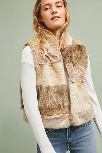 Mixed Faux Fur Vest