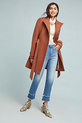 Slide View: 1: Shania Belted Coat