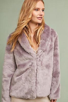 Slide View: 1: Newella Faux Fur Jacket
