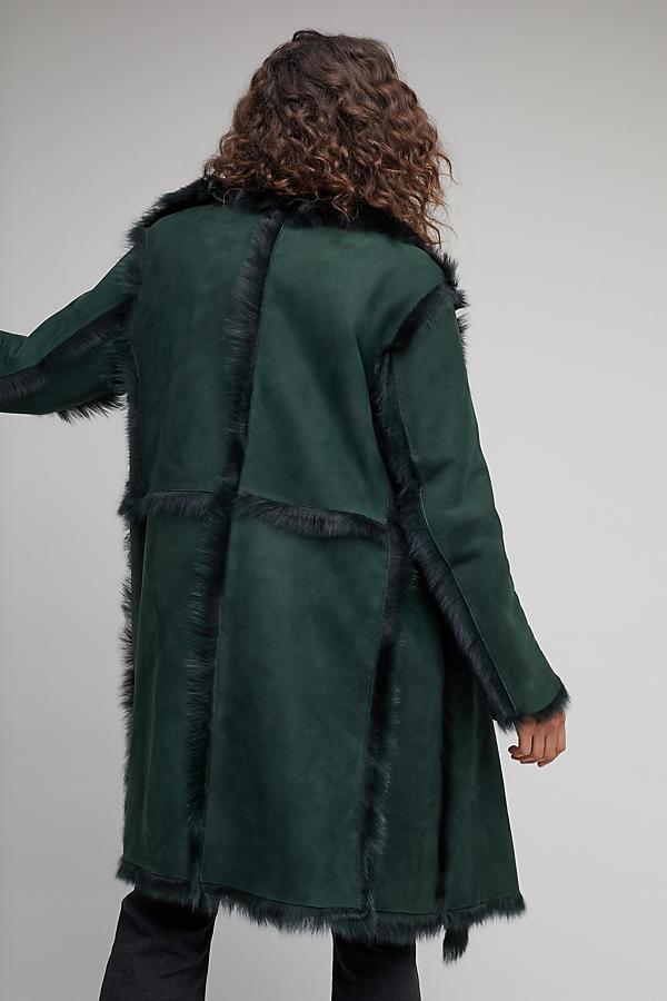 Porto Sheepskin Coat   Anthropologie