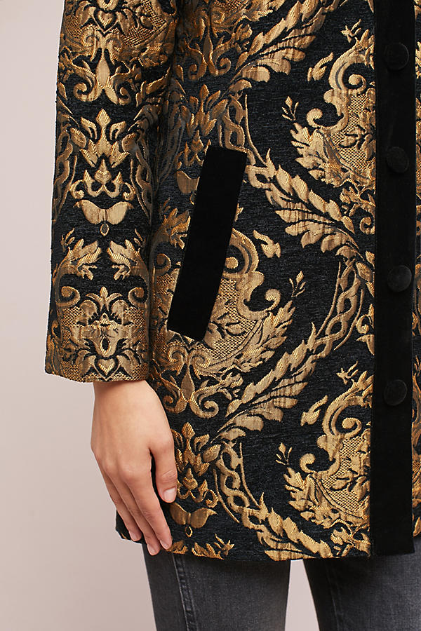 Slide View: 3: Jacquard Cocoon Coat