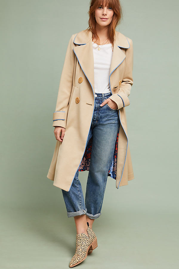 Jayda Trench Coat - Beige, Size Uk 6