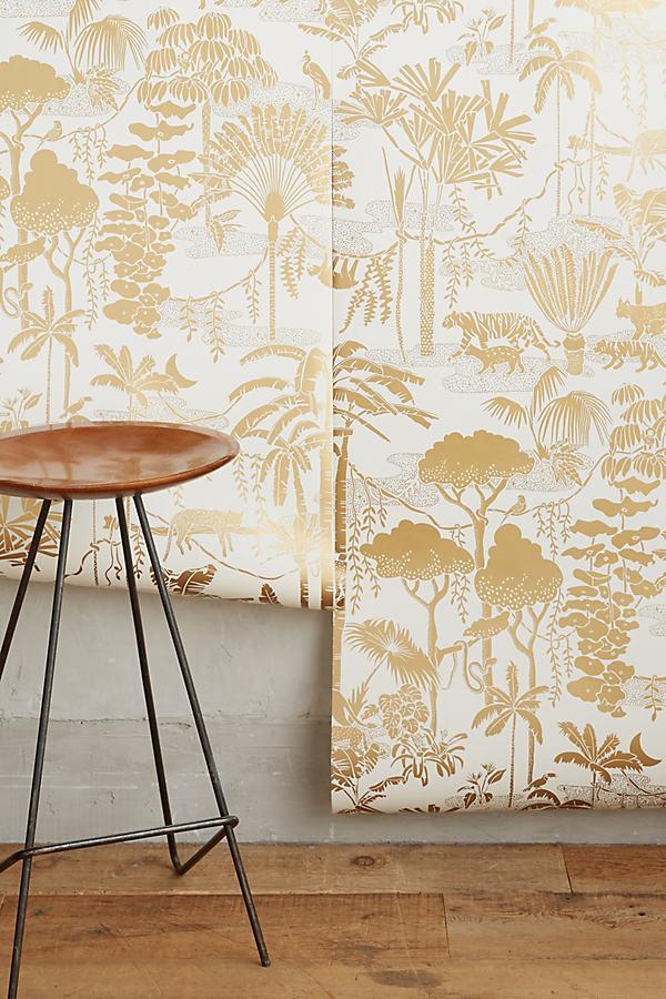 Aimee Wilder Jungle Dream Wallpaper In Beige