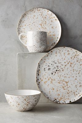 Mimira Dinner Plate & Gold - Dinnerware Sets | Plates \u0026 Dining Sets | Anthropologie