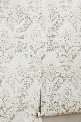 Damask Wall Paper batik damask wallpaper | anthropologie