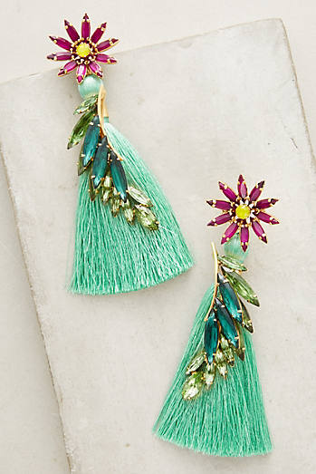 Tropical Grass Drop Earrings