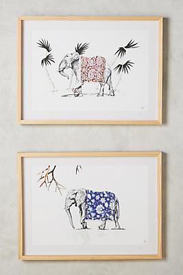 Slide View: 3: Elephant Wall Art