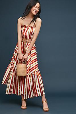 Slide View: 1: Andiamo Striped Maxi Dress