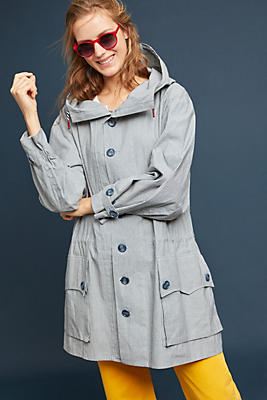 Slide View: 1: Oversized Hooded Anorak