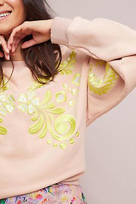 Slide View: 1: Cynthia Rowley Embroidered Sweatshirt