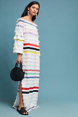 Slide View: 2: Cynthia Rowley Off-The-Shoulder Maxi Dress