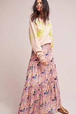 Slide View: 1: Cynthia Rowley Tiered Maxi Skirt