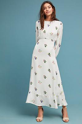 Slide View: 1: Octavia Silk Maxi Dress