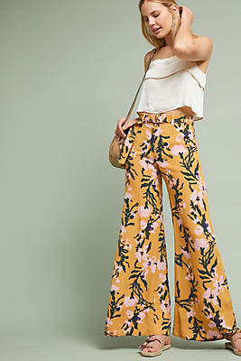 Slide View: 2: Palazzo Belted Pants