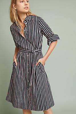 Slide View: 1: Piccolo Striped Shirtdress