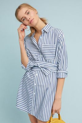 Current/Elliott Striped Shirtdress by Current/Elliott