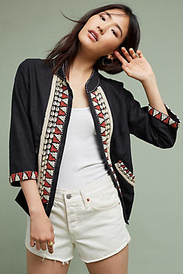 Slide View: 1: Tyler Embellished Linen Jacket