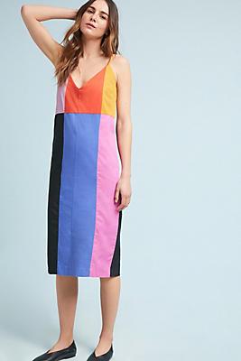 Slide View: 1: Mara Hoffman Georgia Colorblock Slip Dress