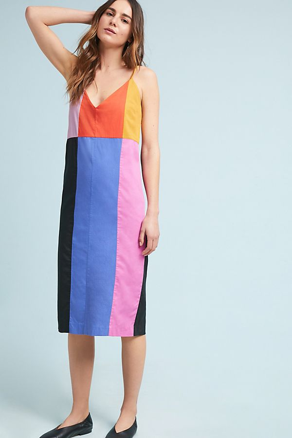 slide view 1 mara hoffman georgia colorblock slip dress