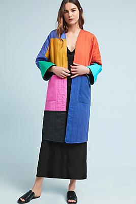 Slide View: 1: Mara Hoffman Temple Colorblock Coat