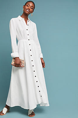 Slide View: 1: Mara Hoffman Maxi Shirtdress