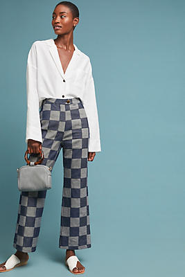 Slide View: 1: Mara Hoffman Checkerboard Trousers