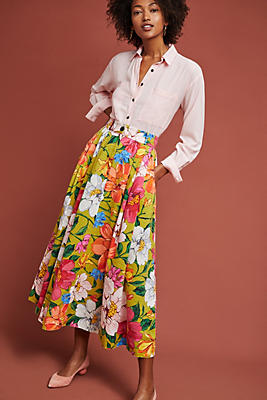 Slide View: 1: Mara Hoffman Tulay Floral Skirt