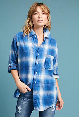Slide View: 2: Pocketed Flannel Buttondown