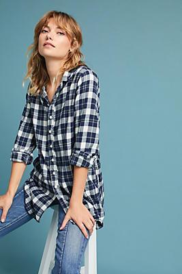 Slide View: 1: Plaid Flannel Buttondown